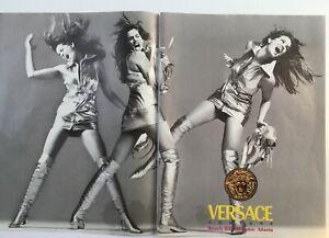 Versace print ad model Cindy Crawford 1994 2 page spread
