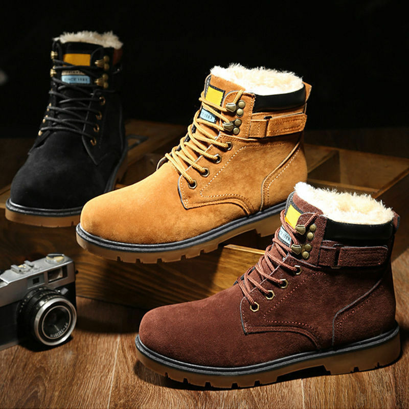 Scarpe casual da uomo  Vogue uomos Winter High-top Warm Shoes Combat Outwear Maitin Ankle Boots Lace Up