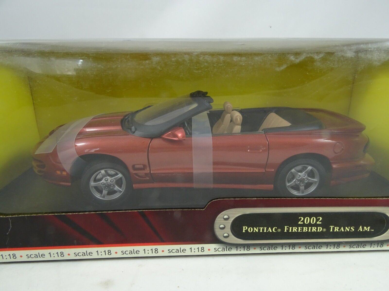 1 18 Road Signature - 2002 Pontiac Firebird Trans Am Redmetallic - Rarity