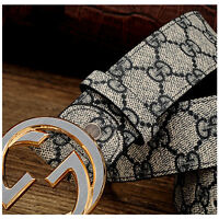 New High Quality Men Belt Cowskin Leather Smooth Buckle Women Waist Belts