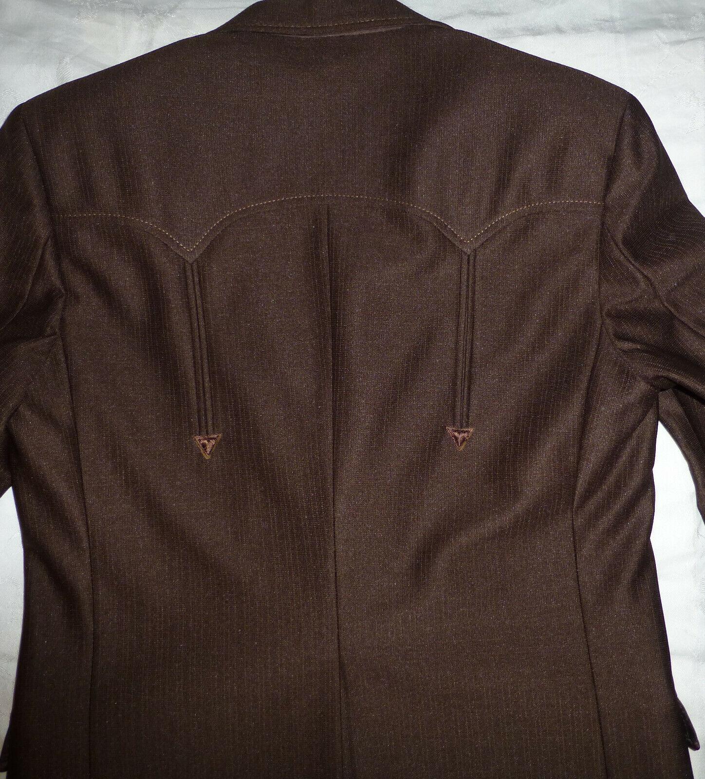 Vintage CIRCLE S Men's Ranch Western Suit Chocola… - image 11