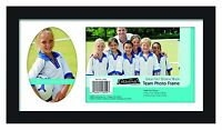 Mcs Team Frame With 2 Photo Openings, 5 By 7-inch And 2-1/2 By 5-inch, Black , N on sale