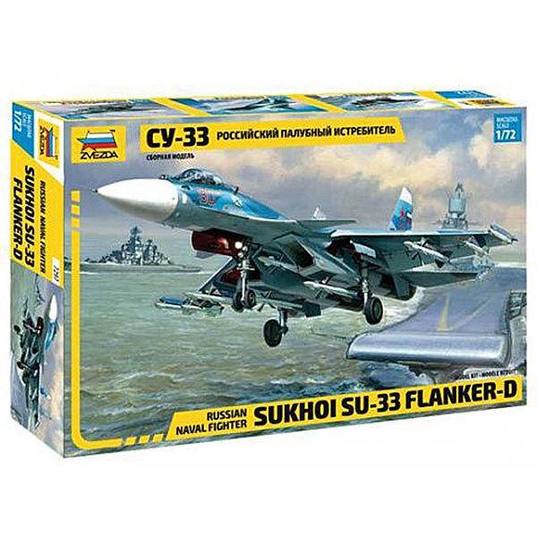 ZVEZDA 7297 Sukhoi-33 Flanker Russian Navy Fighter  1:72 Aircraft Model Kit
