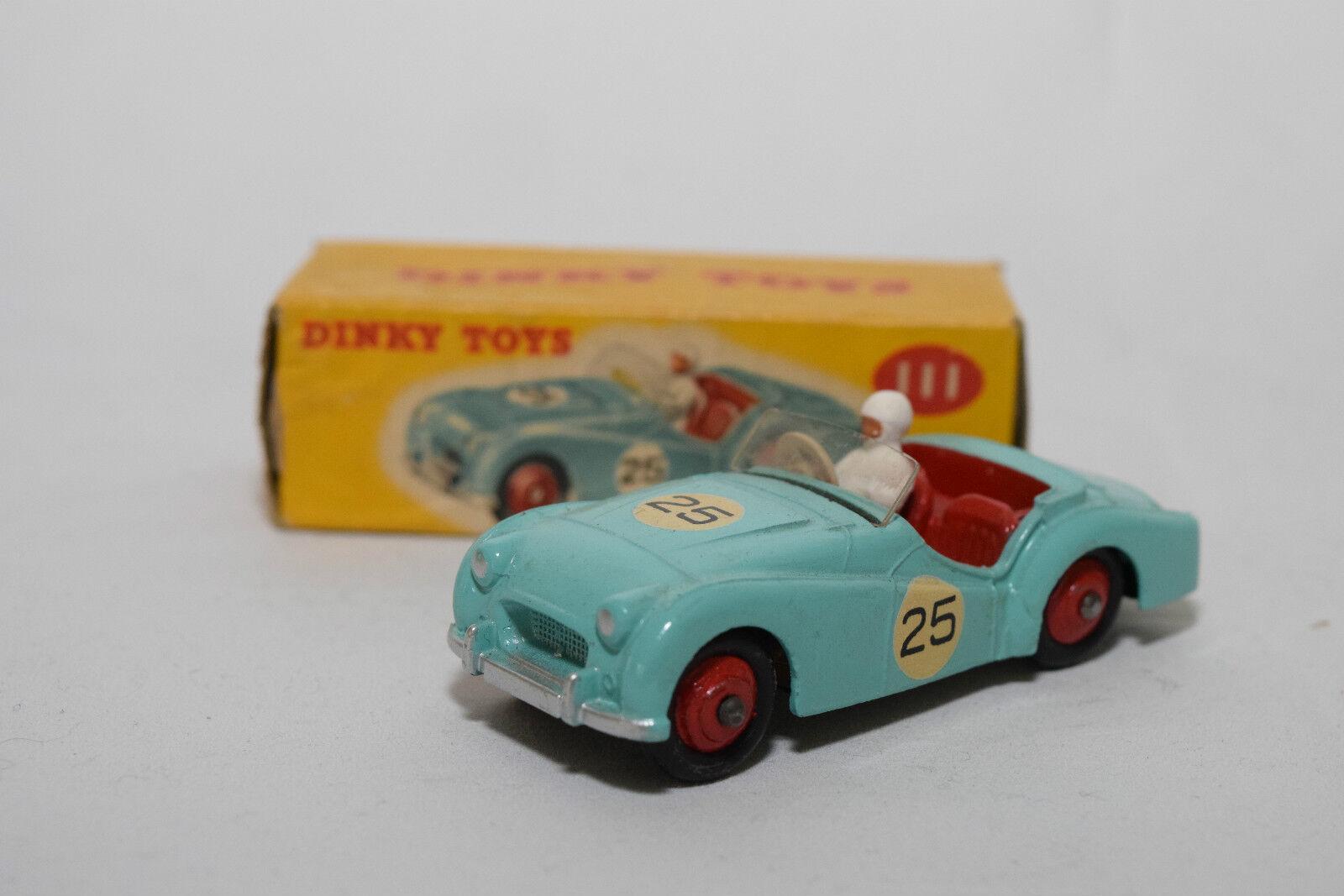 P DINKY TOYS 111 TRIUMPH tr2 TR 2 Sports Car Turquoise MINT BOXED RARE RARO