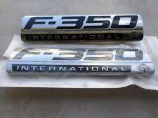 3x OEM F350 International Emblems Side Fender for Ford F-350 Z Chrome Black
