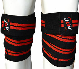 AQF-Knee-Wraps-Weight-Lifting-Bandage-Straps-Guard-Pads-Powerlifting-78-034-Pair