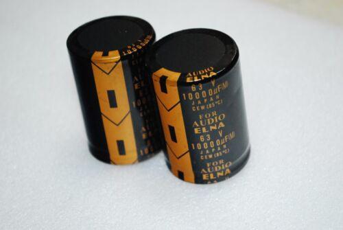 2PCS  ELNA Lao 10000uf 63V Audio Top Power Electrolytic Filter Capacitor A437