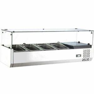Marchia-MTR4-48-034-Refrigerated-Countertop-Salad-Bar-Topping-Rail