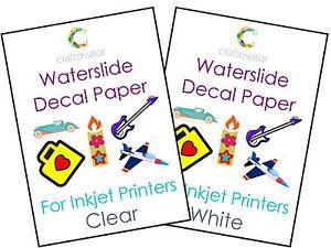 1-Sheet-Water-Slide-Decal-Paper-INKJET-A4-Waterslide-Transfer-Craft-Sample