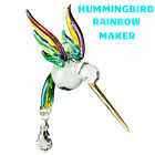 FANTASY GLASS HUMMINGBIRD - RAINBOW - SWAROVSKI CRYSTALS - WOODSTOCK CHIME CHRAI