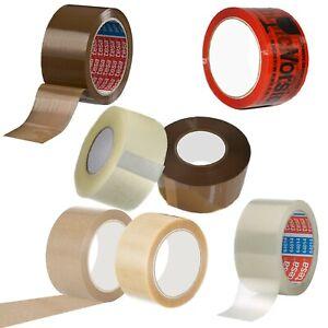 Klebeband Packband Paketband Tesa Transparent Braun Vorsicht Glas bedruckt leise