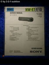 Sony Service Manual NW E7/E10 Network Walkman (#6041)