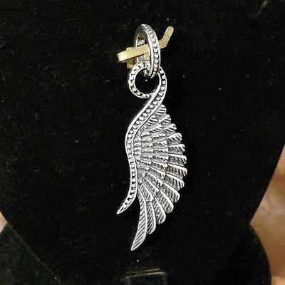 STERLING SILVER SOLO WING PENDANT .925 SOLID /NEW NICKEL FREE JEWELLERY