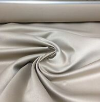 BEAUTIFUL SAND POLYESTER SATIN F.R. FABRIC 1.9 METRES