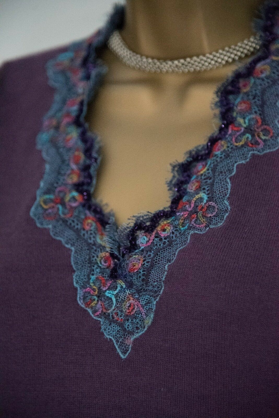 Patsy Seddon, Phase Eight designer, merino wool jumper sz 10, gorgeous