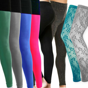 Ladies-Womens-Lace-Footless-Dance-Tights-Black-Sparkly-Glitter-Coloured-Opaque