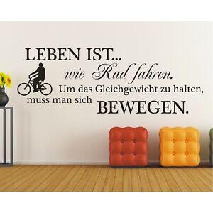 Spruch-WANDTATTOO-Leben-ist-wie-Rad-fahren-Wandsticker-Wandaufkleber-Sticker-5