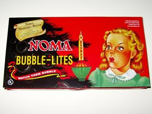 Noma-Bubble-Lite-Set-of-7-Vintage-Special-Edition-Christmas-Lights-Nostalgia