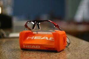 0af06bd9008 Image is loading Head-RACQUETBALL-PROTECTIVE-EYEWEAR-RAPTOR-FRAME-COLOR-RED-