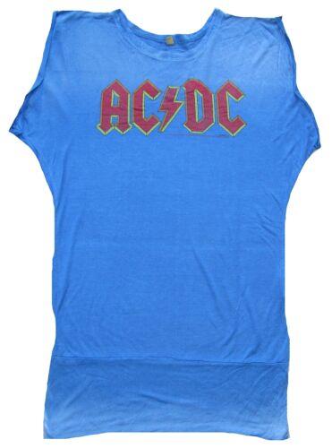 AMPLIFIED Official AC//DC ACDC Logo Rock Star Vintage Tunika ViP T-Shirt XL 44