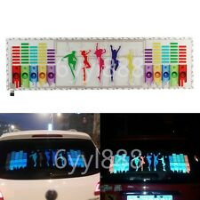 90x25cm Car Music Beat Rhythm LED Glow Lights Sound Activated Equalizer Sticker
