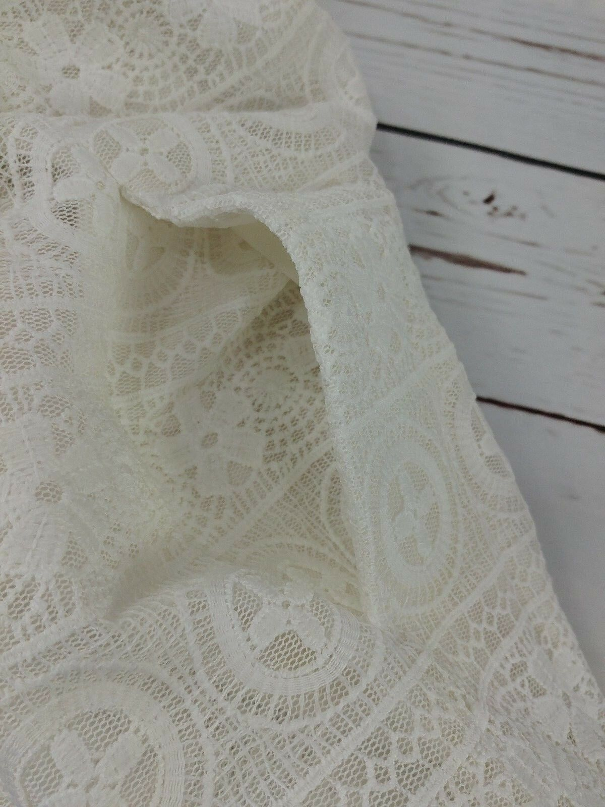 NWT RED Valentino White White White Floral Macrame Pleated Lace Dress Size 38 44 US 0 6 a1fb56