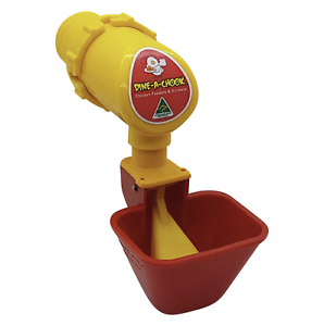 Dine-a-Chook-Lubing-Cup-Chicken-Drinker-Waterer-for-Poultry-Feeder