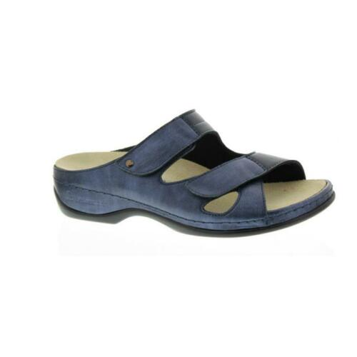 Perlato//Stretch 1027-371 Perlato//Stretch Blue Mules Berkemann Janna