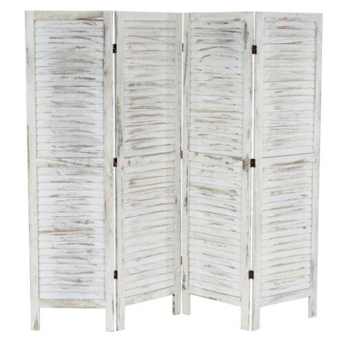 vintage blanc shabby-Look Paravent séparateur de pièce 170x182x2cm