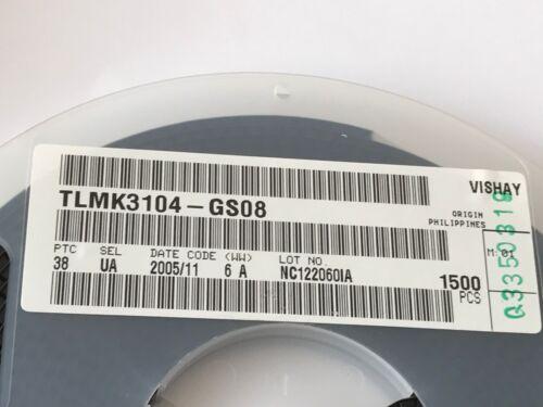- 2,7v LED Super rojo Vishay 100 trozo 10ma Tlmk 3104-gs08 SOP 2,628nm,120 ° 2,3v