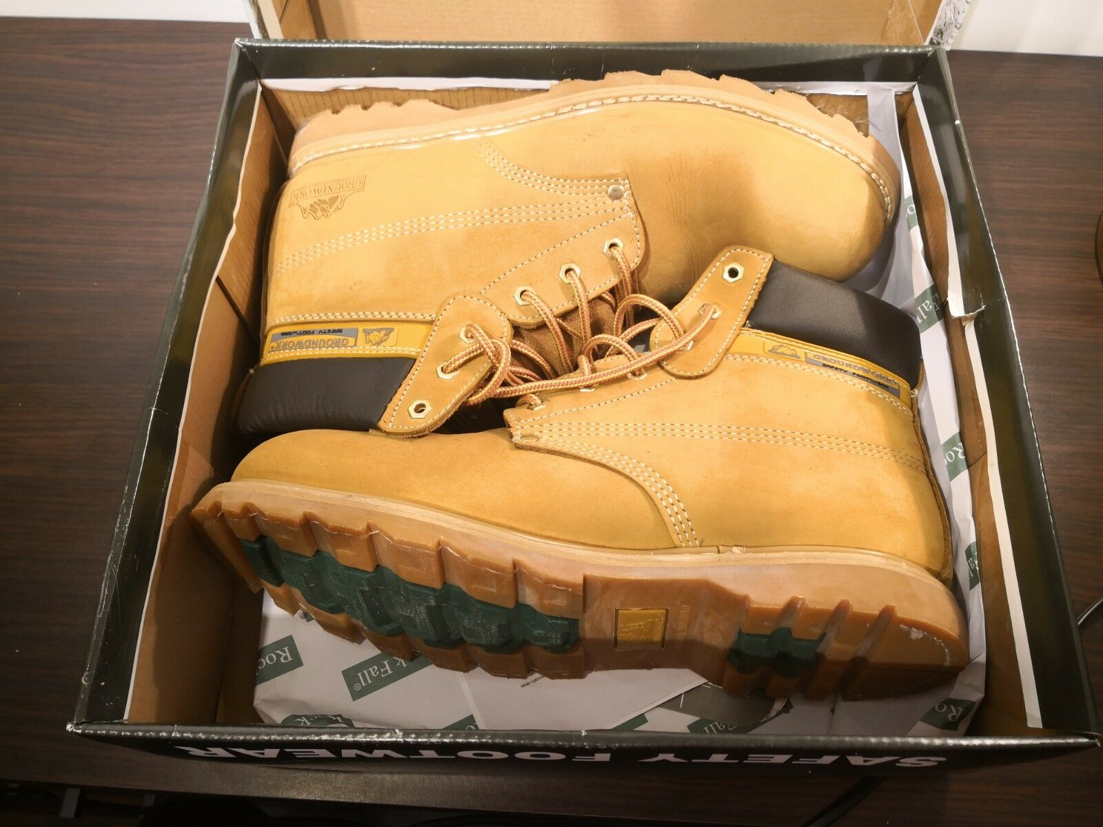 Mens Steel Toe Cap Safety GROUNDWORK Work Boots Lace Up Size 13