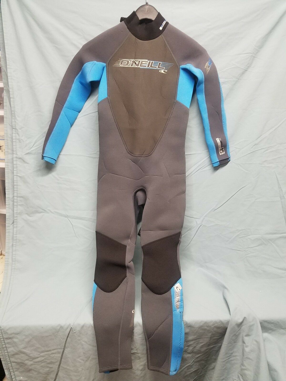 O'Neill Reactor 3 2mm Full Wetsuit Graphite Bright bluee Youth Sz 10  FA2 1330