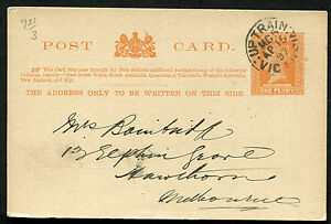 VICTORIA-10891-railway-M-G-5-UP-TRAIN-postmark-cancel