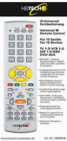 Infrarot-universal-fernbedienung 10 In 1 Bis Zu 10 Geräte Heitech Tv Dvd Sat