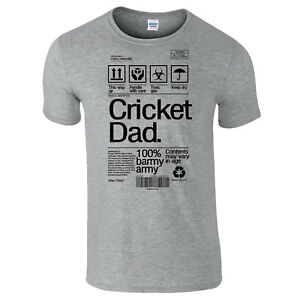 7dc43a9d4c Details about Cricket Dad Product Label Father's Day Dad Grandad Funny Gift  T-Shirt