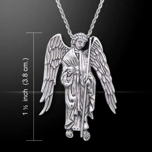 Archangel Raphael .925 Sterling Silver Pendant by Peter Stone