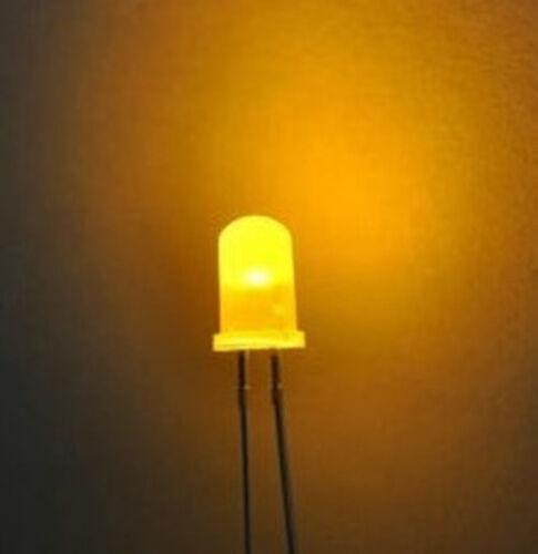 100pcs F3 3mm Yellow Round LED Light LED diffused fog