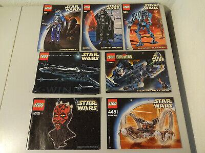 SR1 LEGO STAR WARS BAUANLEITUNGEN  4481 7150 7191 8010 10018 GEBRAUCHT Auswahl