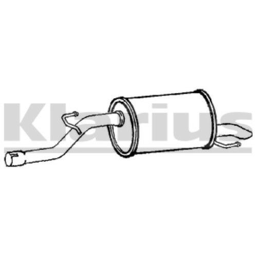 1x KLARIUS OE Quality Replacement Rear End Silencer Exhaust For HONDA Petrol