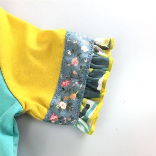 NEW Girls Boutique Ruffle Unicorn Turquoise Short Sleeve Dress 4 5 7 8
