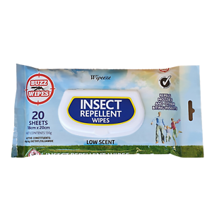 INSECT REPELLENT WIPES Mosquito Repellent and other biting insects