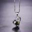 Damen-Halskette-Silber-925-Herz-Aquamarin-Rubin-Edelstein-Kette-Silber-Anhaenger Indexbild 18