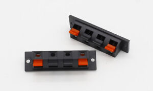 Stereo-Speaker-Loudspeaker-Terminal-Connector-Block-x2