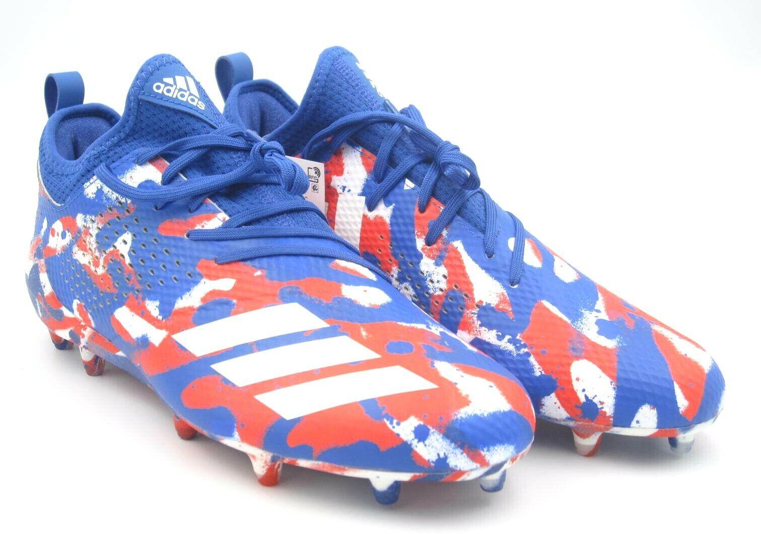 Adidas Adizero 5 Star 7.0 Red bluee White Football Cleats shoes Sz 10US(DB0623)A26