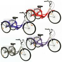 Royal London Adult Tricycle 3 Wheeled Trike Bicycle with Wire Shopping Basket (Multiple Colors)