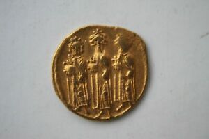 Ancient Byzantine Gold Coin Heraclius Solidus 610-641 A.d 'three Kings'