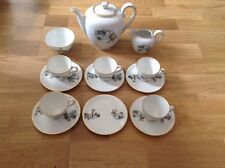 REDUCED Franconia Krautheim of Bavaria 14 Piece Coffee Set Vintage Cars