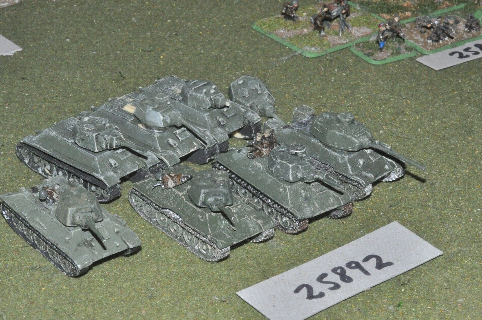 15mm WW2   russian - 7 tanks - vehicles (25892)
