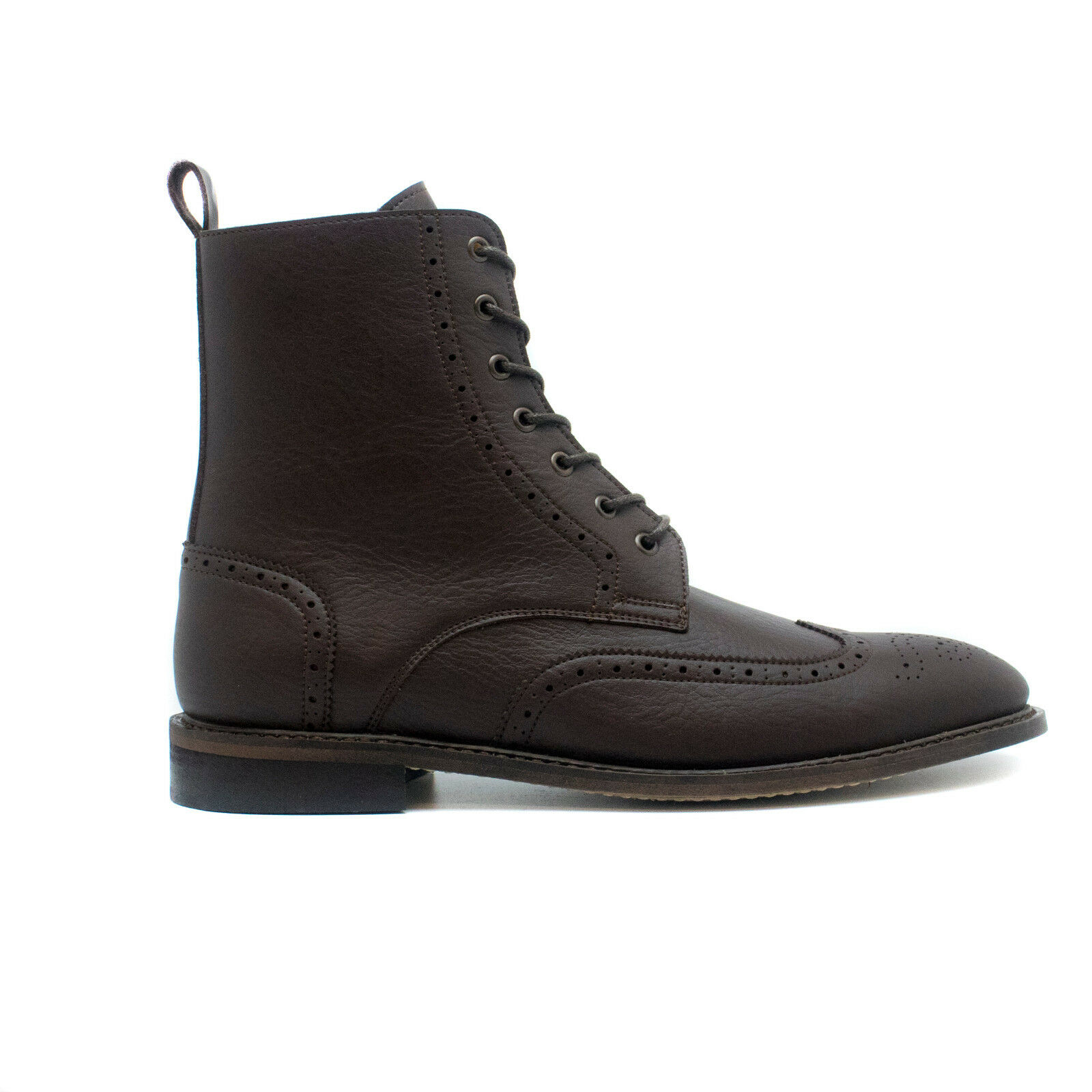 Ankle Boot Lace-Up on Vegan Leather Lined Breathable Brogue Non-Slip Lightweight
