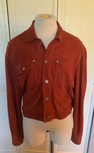 Vintage 1980s Ralph Lauren Suede Rust Red Jean Jac